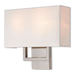 Pierson Brushed Nickel 13-Inch Two-Light Wall Sconce