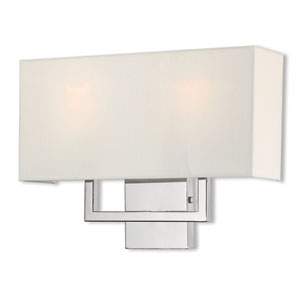 Pierson Polished Chrome 16-Inch Two-Light Wall Sconce