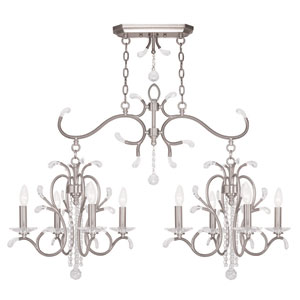 Serafina Brushed Nickel 20-Inch Eight-Light Island Chandelier