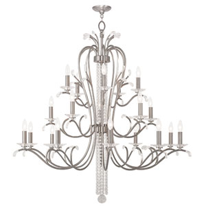 Serafina Brushed Nickel 46.5-Inch 20-Light Foyer Chandelier