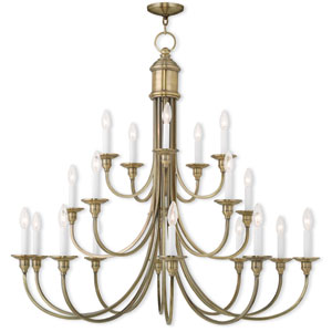 Cranford Antique Brass 42-Inch 20-Light Foyer Chandelier