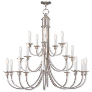 Cranford Brushed Nickel 42-Inch 20-Light Foyer Chandelier