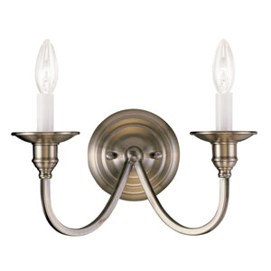 Cranford Antique Brass Two-Light Wall Sconce