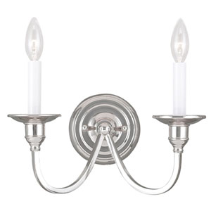 Cranford Polished Nickel Two Light Wall Sconce