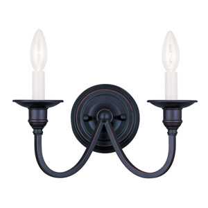 Cranford Olde Bronze Two-Light Wall Sconce