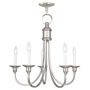 Cranford Polished Nickel Five Light Chandelier