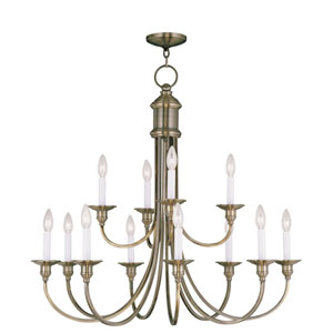 Cranford Antique Brass Eight Light Chandelier