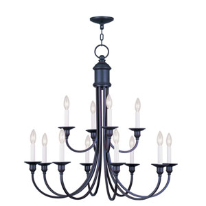 Cranford Olde Bronze Twelve Light Chandelier