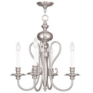 Caldwell Brushed Nickel 22-Inch Four-Light Chandelier