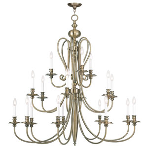 Caldwell Antique Brass 18 Light Chandelier