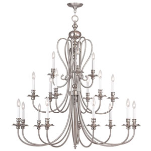 Caldwell Brushed Nickel 18 Light Chandelier