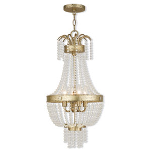 Valentina Hand Applied Winter Gold 13-Inch Four-Light Pendant
