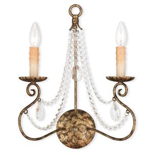 Isabella Hand Applied European Bronze 13-Inch Two-Light Bath Sconce