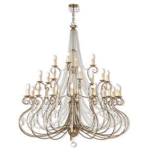 Isabella European Bronze 28-Light 58.5-Inch Grand Foyer Chandelier