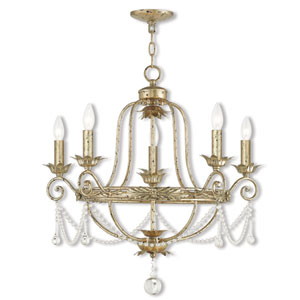 Sophia Winter Gold Five-Light 26-Inch Chandelier