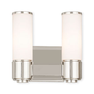 Weston Polished Nickel Two-Light 10-Inch Bath Vanity
