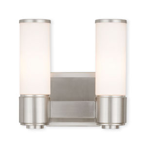 Weston Brushed Nickel Two-Light 10-Inch Bath Vanity