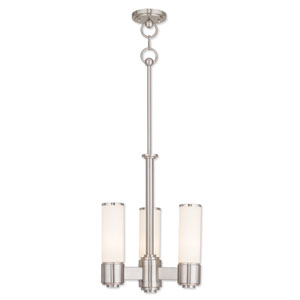 Weston Brushed Nickel Three-Light 14-Inch Mini Chandelier