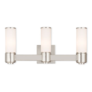 Weston Polished Nickel Three-Light 22-Inch Bath Vanity