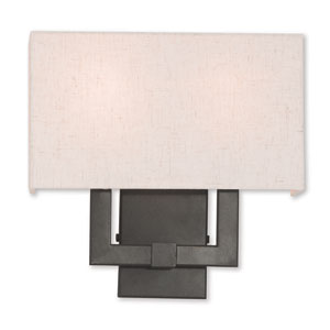 Meridian English Bronze Two-Light 13-Inch Wall Sconce