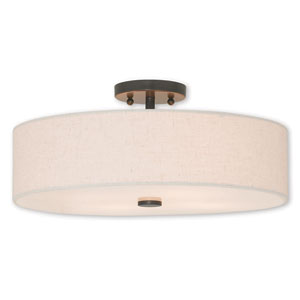 Meridian English Bronze Four-Light 18-Inch Ceiling Mount