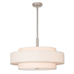 Meridian Brushed Nickel Five-Light 24-Inch Pendant