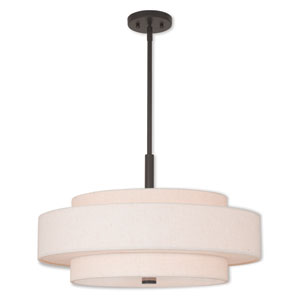 Meridian English Bronze Five-Light 24-Inch Pendant