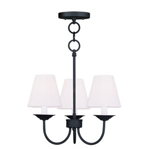 Mendham Black Three Light 15.5-Inch Convertible Chain Hang with Semi-Flush Mount