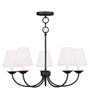 Mendham Black Five Light Chandelier