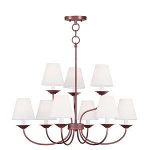 Mendham Vintage Bronze Six Light Chandelier