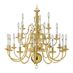 Beacon Hill Twenty-One Light Polished Brass Chandelier