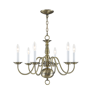 Williamsburgh Six-Light Chandelier