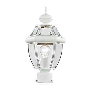 Monterey White One-Light Outdoor Post Light