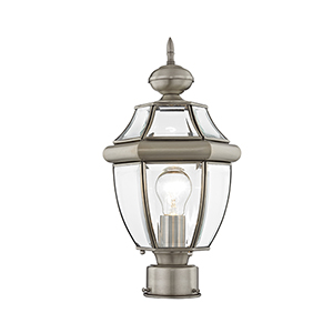 Monterey Brushed Nickel One-Light Outdoor Post Light