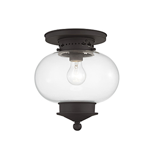 Harbor Bronze One-Light Semi-Flush