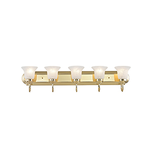 Home Basics Polished Brass Five-Light Bath Light