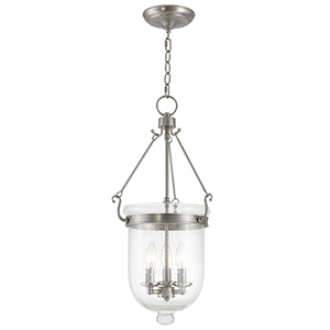 Jefferson Brushed Nickel Three-Light Pendant