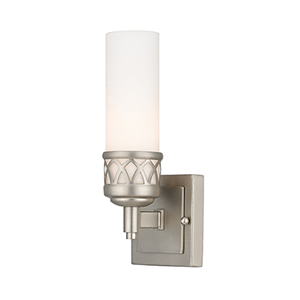 Westfield Brushed Nickel One-Light Bath Light