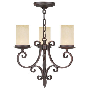 Millburn Manor Imperial Bronze Three Light Mini Chandelier