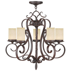 Millburn Manor Imperial Bronze Five Light Chandelier