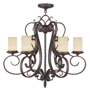 Millburn Manor Imperial Bronze Six Light Chandelier