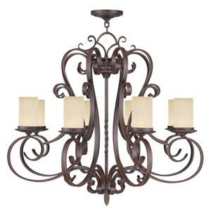 Millburn Manor Imperial Bronze Eight Light Chandelier
