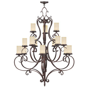 Millburn Manor Imperial Bronze 15 Light Chandelier