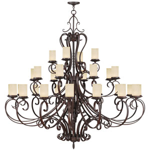 Millburn Manor Imperial Bronze 28 Light Chandelier