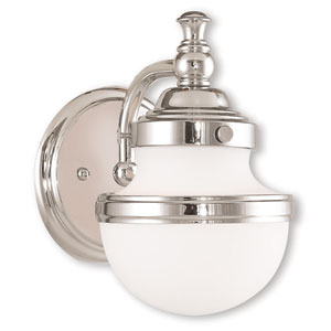 Oldwick Polished Chrome One-Light 5.5-Inch Bath Vanity