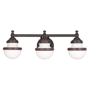 Oldwick Olde Bronze 24-Inch Three-Light Bath Light