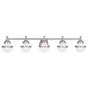 Oldwick Brushed Nickel 45-Inch Five-Light Bath Light