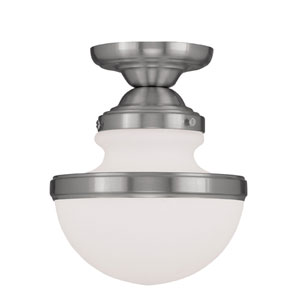 Oldwick Brushed Nickel Single Light Ceiling Mount