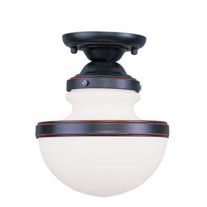 Oldwick Olde Bronze Single Light Ceiling Mount