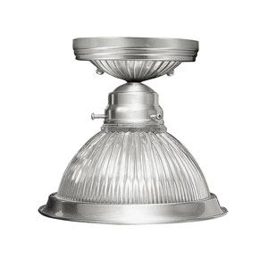Home Basics Brushed Nickel Single Light Ceiling Mount